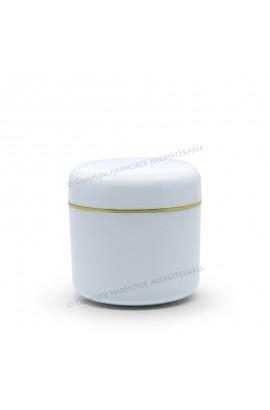 Pote plástico 15g - Branco/Ouro