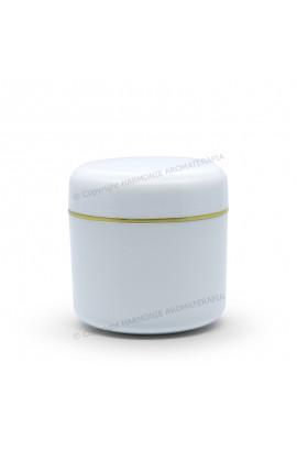 Pote plástico 30g - Branco/Ouro