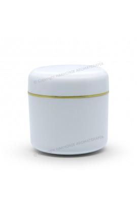 Pote plástico 60g - Branco/Ouro