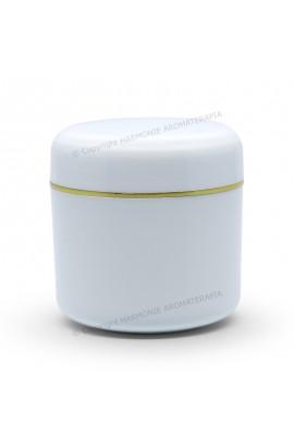 Pote plástico 120g - Branco/Ouro
