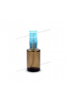 Vidro spray 10ml - Fumê Redondo com Tampa Azul