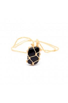 Difusor Pedra Macramê Obsidiana
