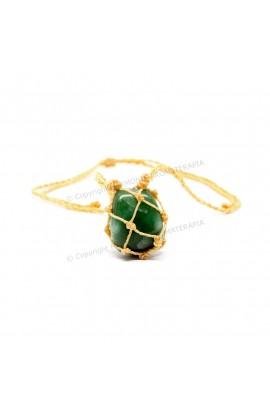 Difusor Pedra Macramê Quartzo Verde