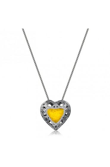 Difusor Pessoal Coração em Prata - Com Banho de Ródio Negro