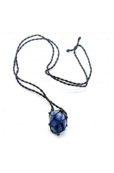 Difusor Pedra Macramê Quartzo Azul